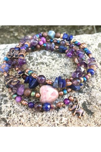 Bracelet Memoire Purple