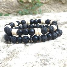 X2 bracelets Lave/Bois