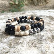 X2 bracelets Hematite/Coco